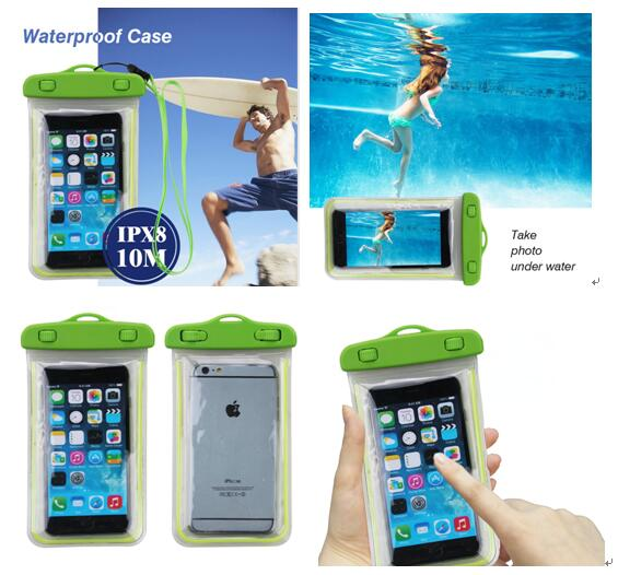 Put your company brand logo on the Waterproof phone pouch