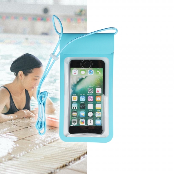 New PU stylish universal dry pouch with touch-ID fingerprint identification
